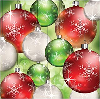 Creative Converting 317109 16 Count Paper Beverage Napkins, Bright Baubles