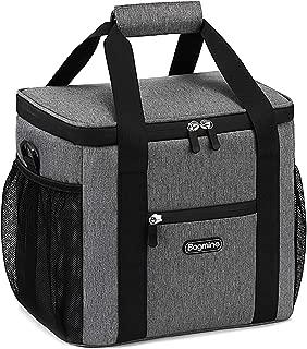 Bagmine クーラーバッグ 15L クーラーボックス 保温・保冷バッグ ランチバッグ 手持ち 肩掛け アウトドア お花見/BBQ/ピクニック/キャンプ/レジャー/運動会/行楽など(グレー)