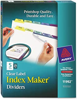 Ave11992–Avery 5-colored onglets Présentation intercalaire
