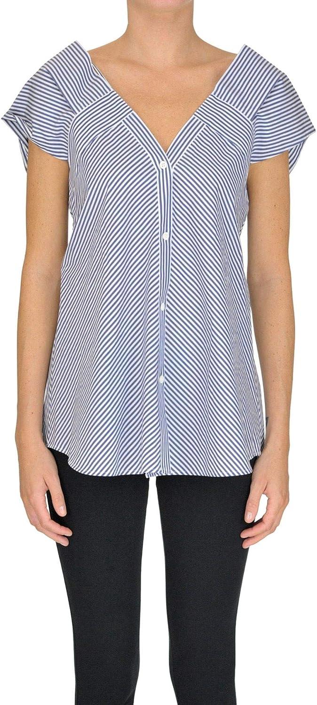 THEORY Women's MCGLTPT000005027E bluee Cotton Shirt