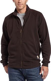 Carhartt .K350.DKB.S004 Midweight Mock Neck Zip Front Sweatshirt, Colour: Dark Brown, Size: Small