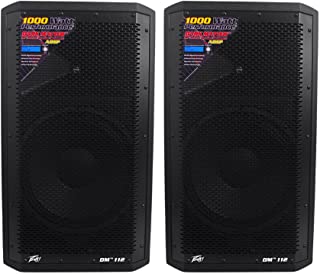 Peavey Dark Matter DM112 Pro DJ 2-Way Active 12 Inch Powered PA Speaker (2 Pack)