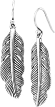 Best silver earrings feather Reviews