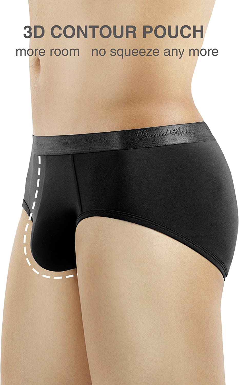 DAVID ARCHY 4 Pack Mens Micro Modal Underwear Soft Comfy Briefs