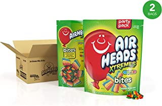 Airheads Xtremes Bites, Rainbow Berry, Halloween Candy, Bulk, 30.4 oz Stand Up Bag (Pack of 2)