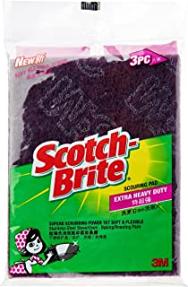 Scotch-Brite Extra Heavy Duty Flexible Scrub, Green, Pack of 3 ET-3M
