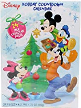 2019 Disney Mickey Mouse and Friends Christmas Advent Countdown Calendar with 24 Milk Chocolate Pieces, 1.76 oz