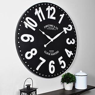 "FirsTime & Co. 27"" Sullivan Wall Clock, Black,10081"