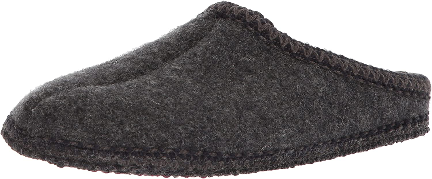 Haflinger Women's AS Slipper,Grey,43 EU (Women's 12 M US Men's 10 D US)