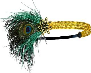 Zivyes 1920s Headband Flapper Headpiece 1920s Hair Accessory Vintage Inspired Wedding Headpiece