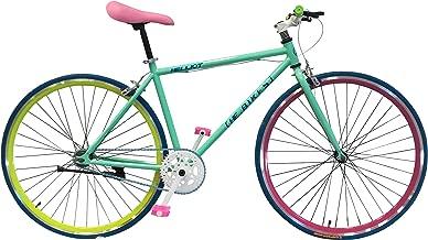 Helliot Bikes Soho 14 - Bicicleta Fixie Urbana, Unisex Adulto, Verde, ML