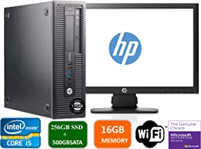 HP Prodesk 600 G1 SFF Slim Business Desktop Computer, Intel I5-4570 3.20 GHz, 16GB RAM, 256GB SSD + 500gb SATA Drive,with 22