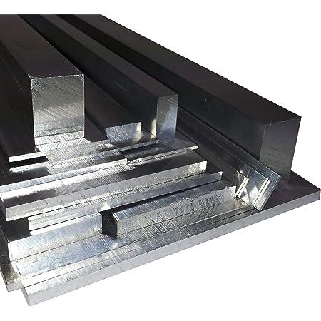 L/änge 125mm 12,5cm auf Zuschnitt Aluminium Flachstange AlMgSi05 50x25mm