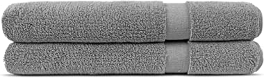 Chakir Turkish Linens Hotel & Spa Quality, Highly Absorbent 100% Turkish Cotton Bath Mats (2 Pack, Gray)