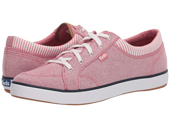 Keds  Center Chambray/Stripe (Mauve) Womens Lace up casual Shoes