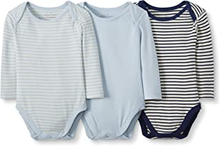 Moon and Back by Hanna Andersson Baby 3-Pack Organic Cotton Long Sleeve Bodysuit