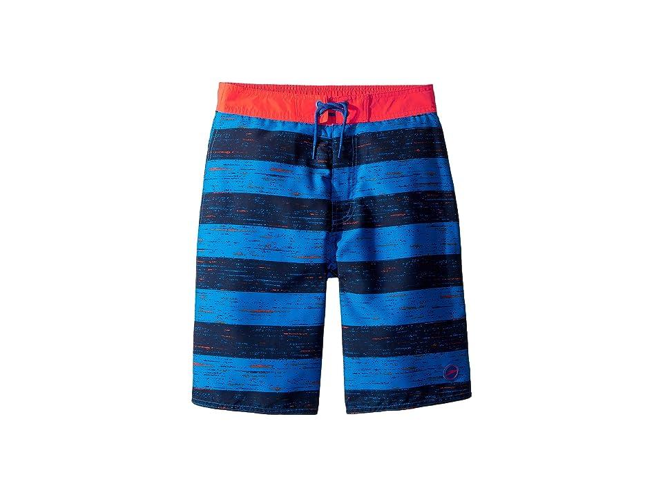 Speedo Kids Thru Way Stripe E-Boardshorts (Little Kids/Big Kids) (Bright Ocean) Boy