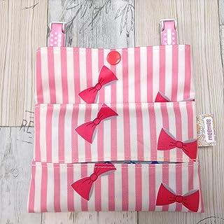Jam's Ukulele YYG-121/ 移動ポケット ラミネート ピンク リボン すっきりポケット ティッシュケース 女の子 キッズ 手作り ハンドメイド プレゼント