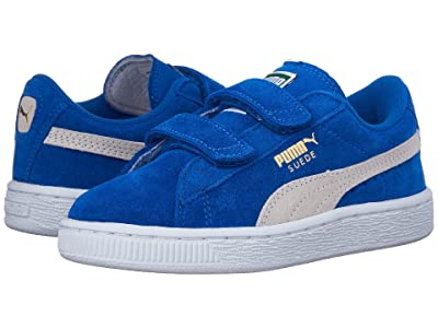 Puma Kids Suede 2 Straps (Little Kid) (Snorkel Blue/Puma White) Kids Shoes