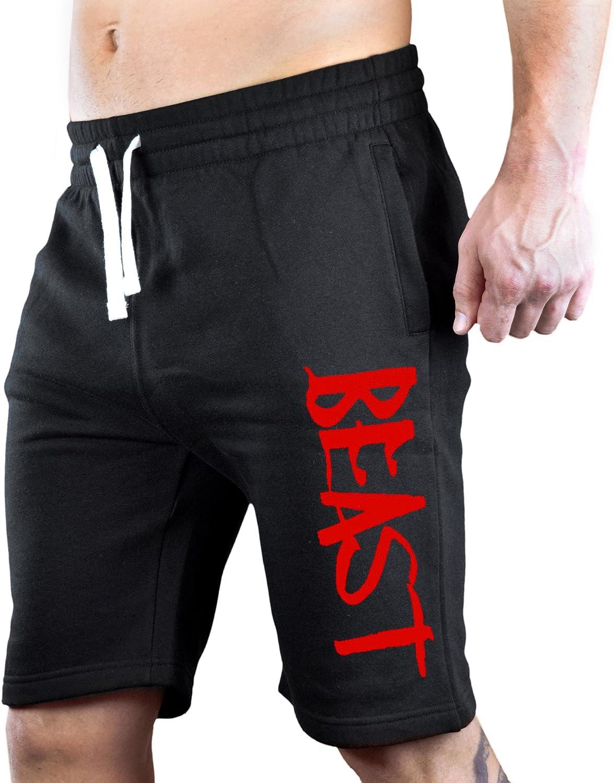 Men's Red Beast Black Fleece Sweatpant Alternative dealer Gym Jogger Opening large release sale Shorts