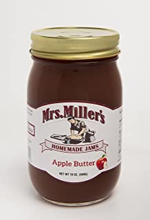 Mrs Miller's Amish Homemade All Natural Apple Butter 18 Ounces - Single (No Corn Sugar)