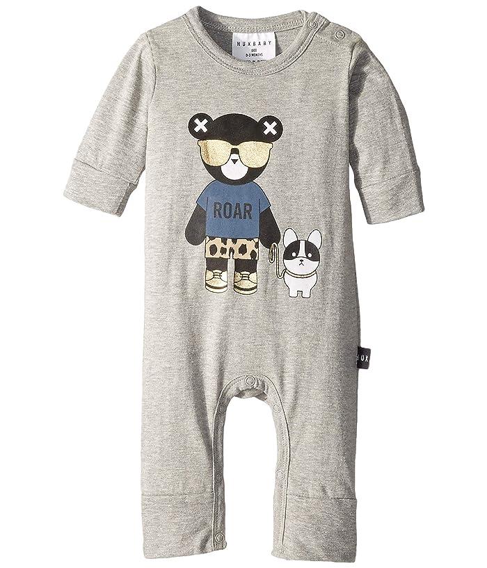 HUXBABY Hux Bulldog Romper (Infant) (Grey Marle) Kid