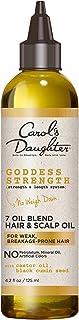 7 Oil Blend Scalp Oil | Hair Oil with Castor Oil and Black Seed Oil | for Weak, Breakage Prone Hair | Goddess Strength by Carols Daughter | 4 Fluid Ounces
