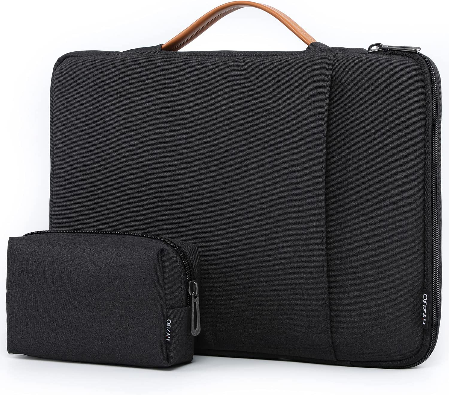 HYZUO 13-13.5 Inch 360° Protective Laptop Sleeve Handbag Compatible with MacBook Air 13 M1/MacBook Pro 13 M1/13.5 Surface Laptop 4 3/Dell XPS 13/Dell Inspiron 13/HP Envy 13/HP Spectre x360 13, Black
