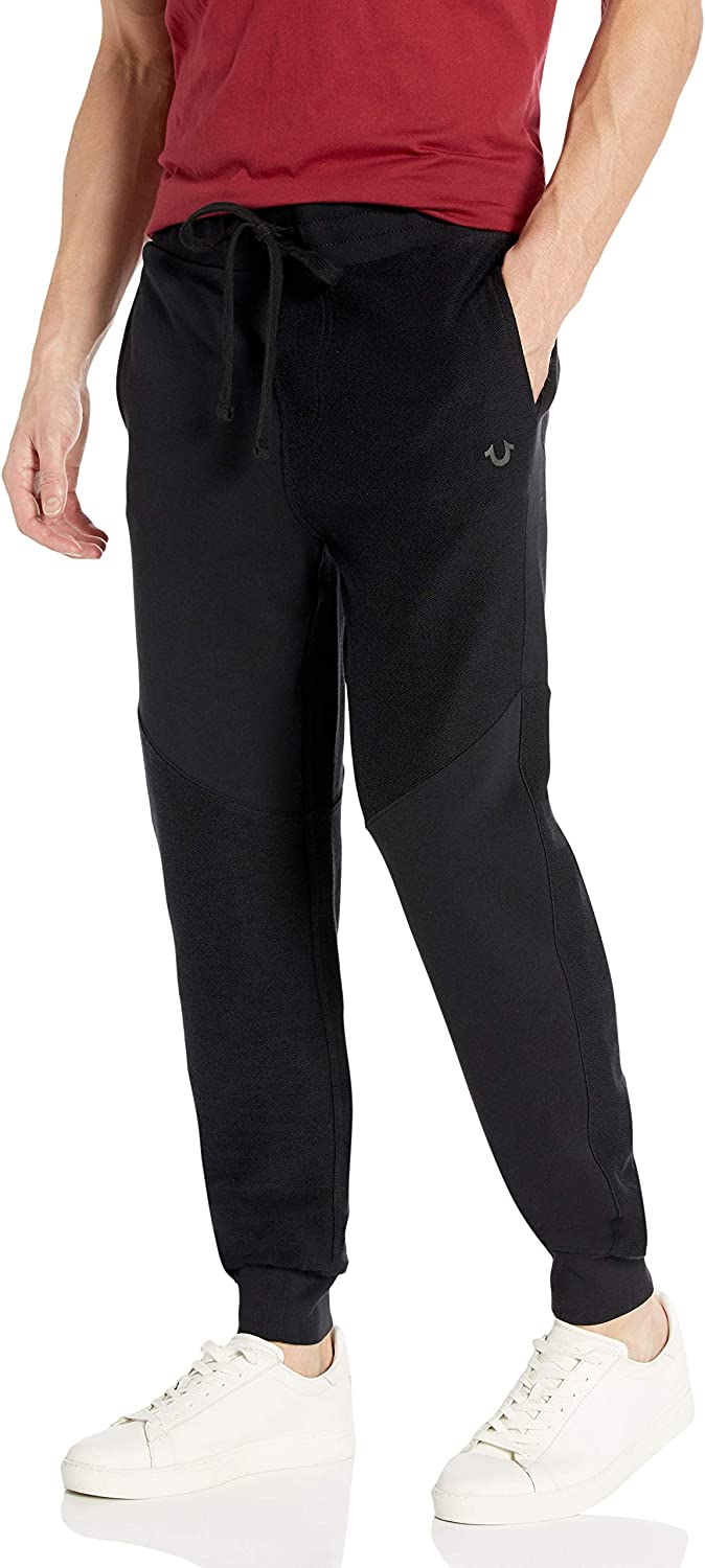 True Religion Men's French Terry Slim Sweat Jogger Fit Very popular Max 79% OFF Leg Pant