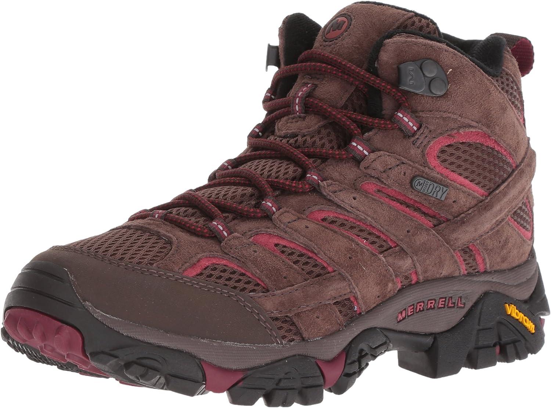 Merrell Womens Moab 2 Mid Waterproof Sneaker