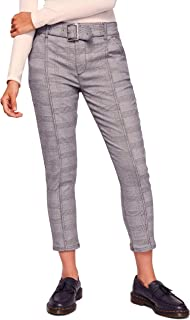 Womens Tailored Plaid Cropped Pants
