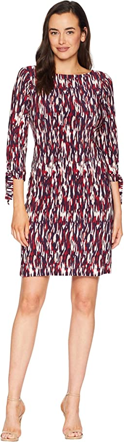 Printed Ity Long Sleeve Dress