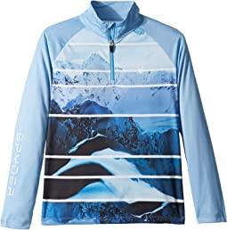 Limitless Powder Peak Stryke Zip T-Neck (Big Kids)