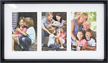 Stonebriar Decorative Black Collage Frame with 3 Openings for 4x6 Photos, Unique Picture Frame for Family, Baby, or Weddin...