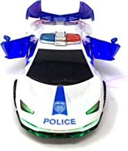 """JOYSAE Electric Automatic Deformation Lifting 360 Degree Rotating Speed car Light Music Universal Wheel Police Car with LED and Sound Effects by, 8.5"""" Battery Operated Toy"""