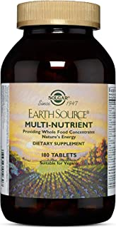 Solgar - Earth Source Multi-Nutrient Tablets Providing Whole Food Concentrates, 180 Tablets