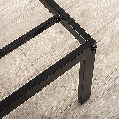 Zinus Van 40,6 cm Métal Platform Bed Frame (Rounded Corner) avec Steel Slat Support, Double