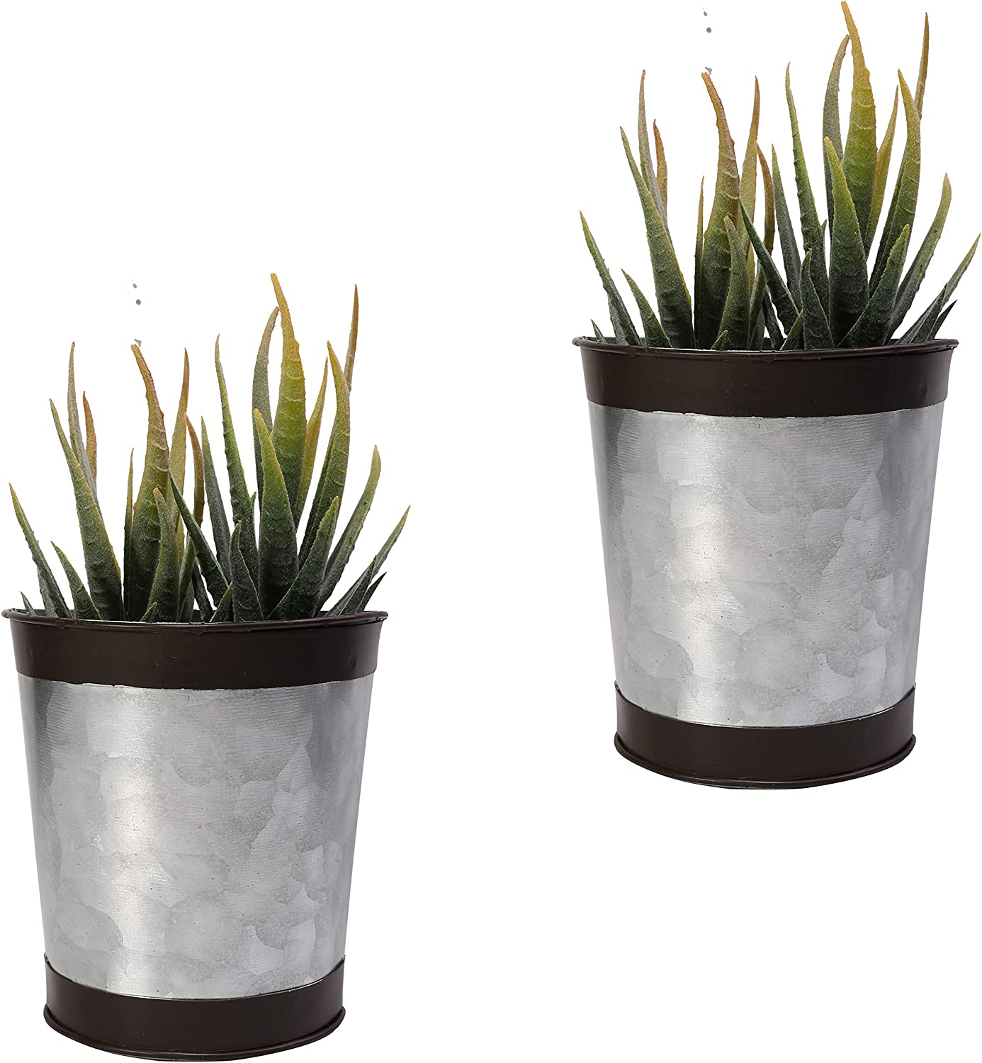 4 Inch Wall Mounted Planter Metal Hanging Plant Holder Decorative Wall Vase Planters for Succulents Indoor Home Wall Decor,Set of 2 Black