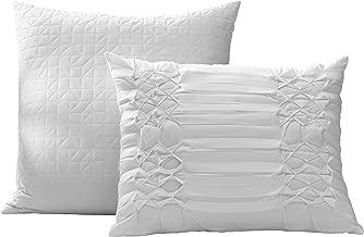 City Scene Triple Diamond Throw Pillow Set, 16x20, White
