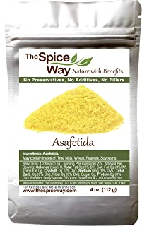 The Spice Way Pure Asafetida Powder - Hing | 4 oz | Indian spice used for masala (seasonings). (also called Asafoetida / asfotedia / asefitida / asofatida / asafateda)
