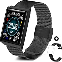 TECKEPIC Smart Fitness Tracker Watch - Bluetooth Full Touch Control Activity Tracker with Heart Rate and Sleep Monitor, Step and Calorie Counter for Men, Women or Kids