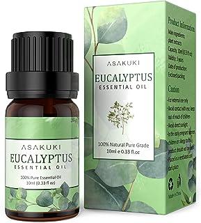 ASAKUKI Eucalyptus Essential Oil 10ml, 100% Pure Natural Essential Oils, Organic Aroma Essential Oil, Scented Oils for Dif...
