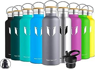 comprar comparacion Super Sparrow Botella de agua aislada al vacío de acero inoxidable, diseño de pared doble, boca estándar - 350ml / 500ml /...