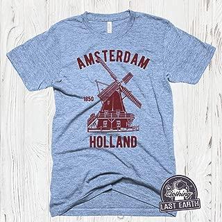 Amsterdam Holland Shirt, Vintage Windmill Shirt, Mens, Womens, Kids Shirts Vintage Shirts, Retro Shirt