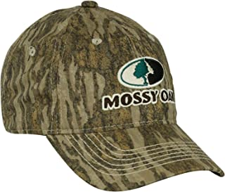 b51525c192029 Mossy Oak Camo Hat with Adjustable Strap, Stitched Logo, and Full  Camouflage Design