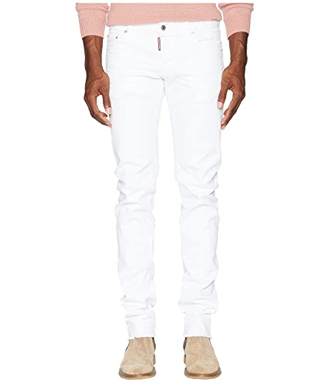 DSQUARED2 White Bull Slim Jeans
