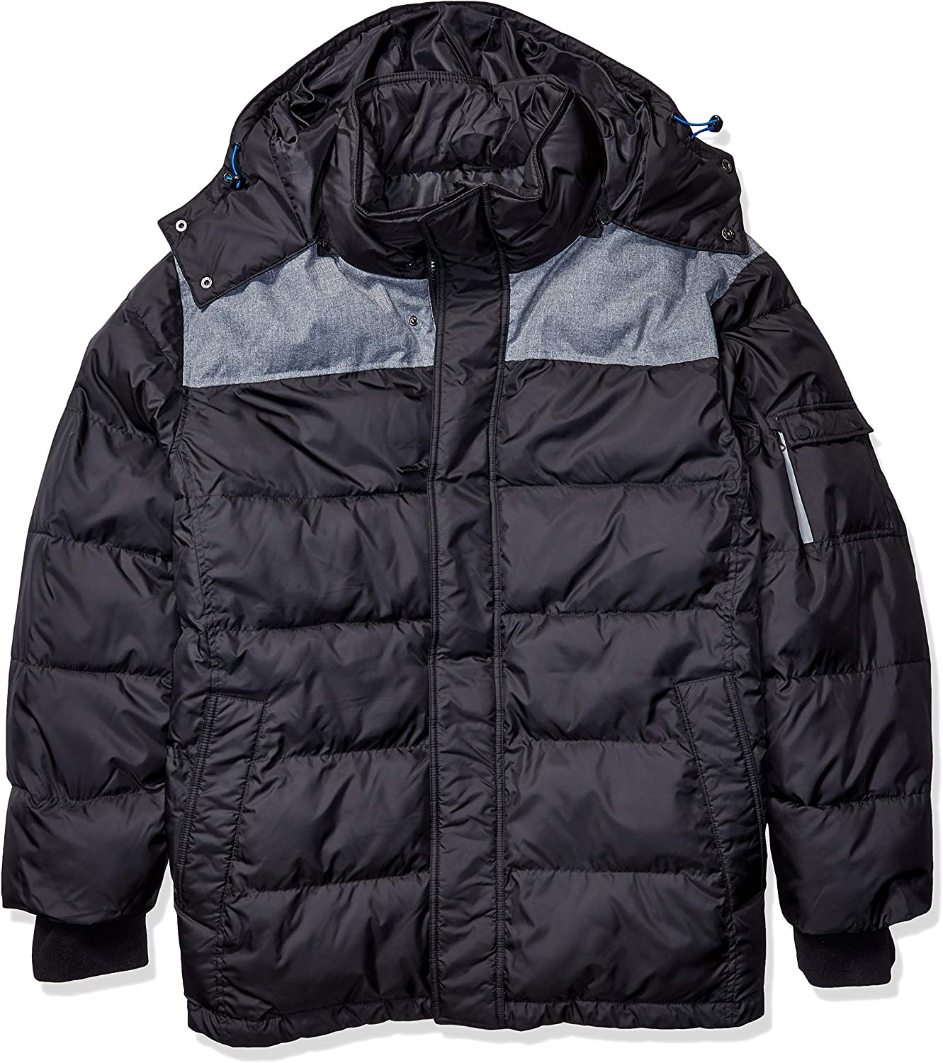IZOD Men's Big & Tall Insulated Puffer Jacket with Removable Hood