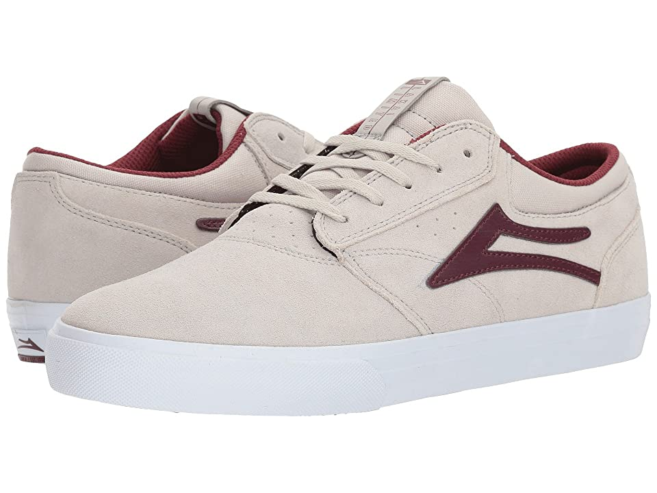 Lakai Griffin (White/Burgundy Suede) Men