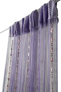 ave split 100cmX200cm Decorative Door String Curtain Beads Wall Panel Fringe Window Room Divider Blind for Wedding Coffee House Restaurant Parts Door Divider Beads Tassel Screen Decoration (purple25)