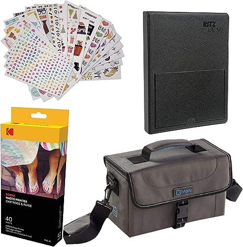 "popular Kodak Dock online sale Paper Cartridge Bundle + Deluxe Case + 4x6"" Album + sale Sticker Frames - 40 Pack Bundle sale"